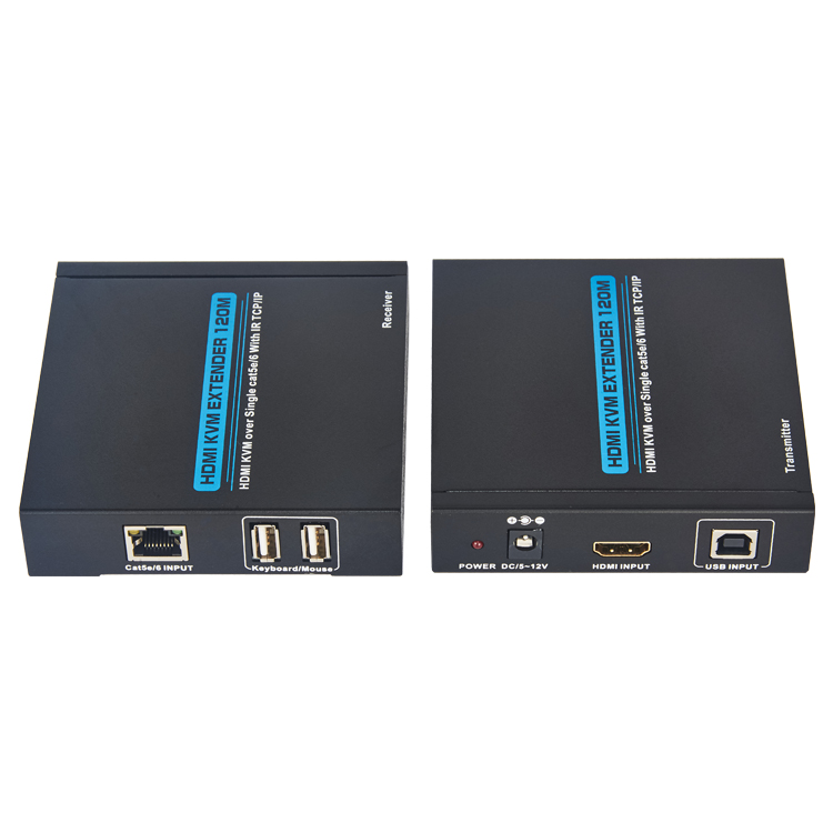 HDMI KVM Extender 120m over lan cable with IR+TCP/IP