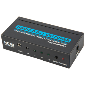 HDMI2.0V 3x1 Switcher(3D Ultra HD 4Kx2K@60Hz)