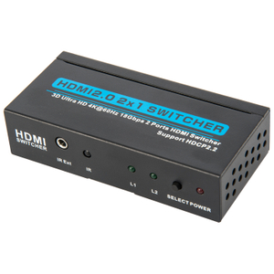 HDMI2.0V 2x1 Switcher(3D Ultra HD 4Kx2K@60Hz)