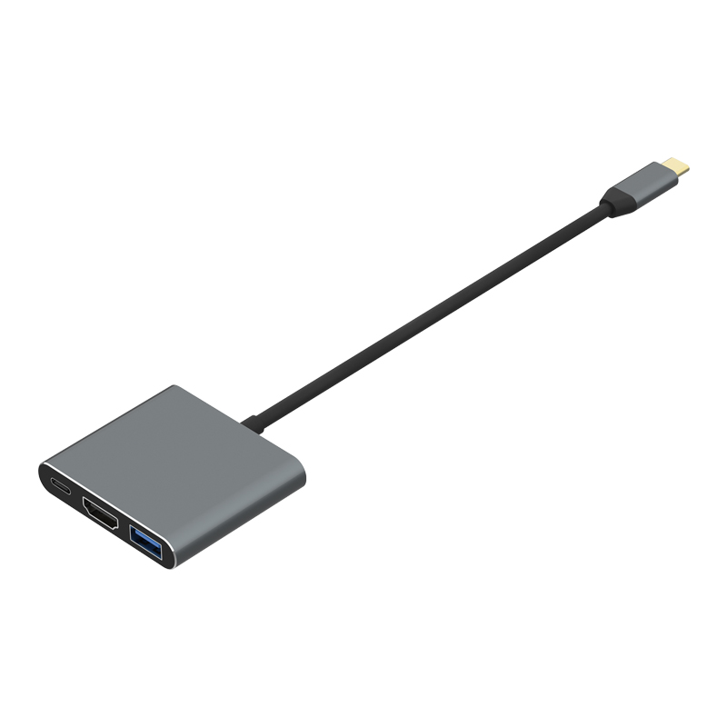 TYPE C to HDMI2.0+USB3.0+PD