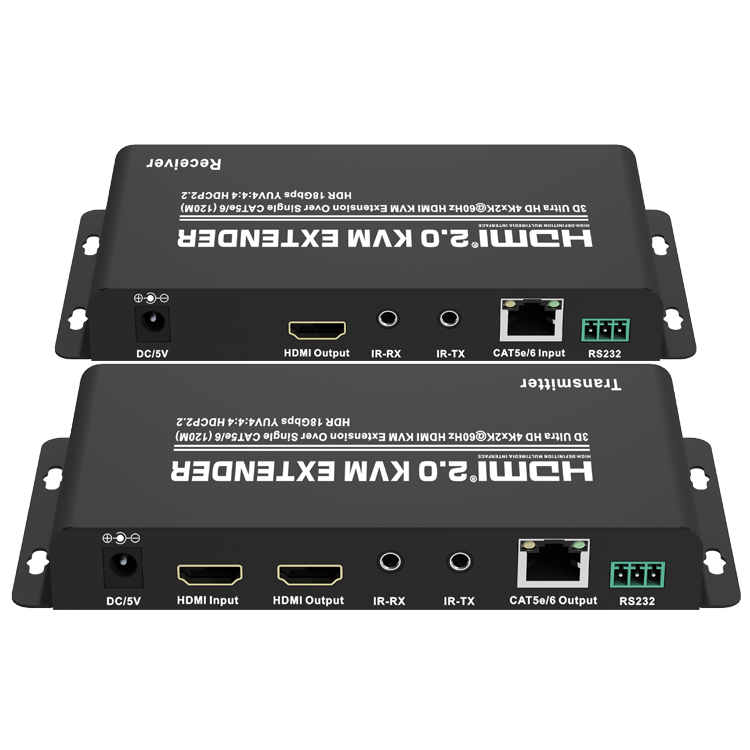 HDMI2.0 KVM Extender over Single CAT5e/6(120M) (Ultra HD 4Kx2K@60Hz HDCP2.2)